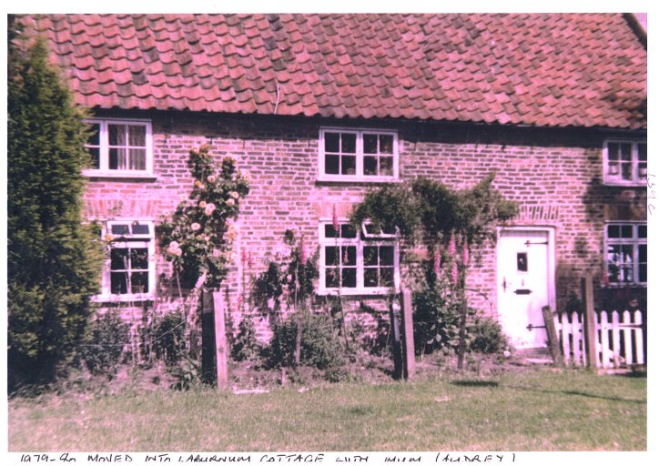 1979-80 T.H. moved into Laburnum cottage with Mum (Audrey)
