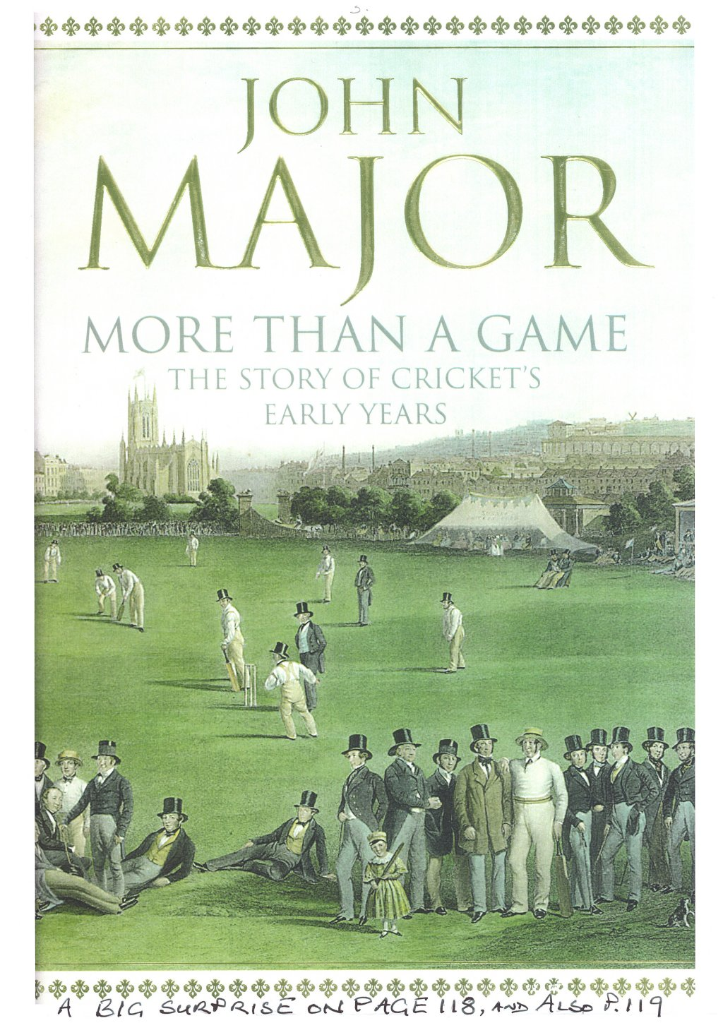 John Majors History of Cricket